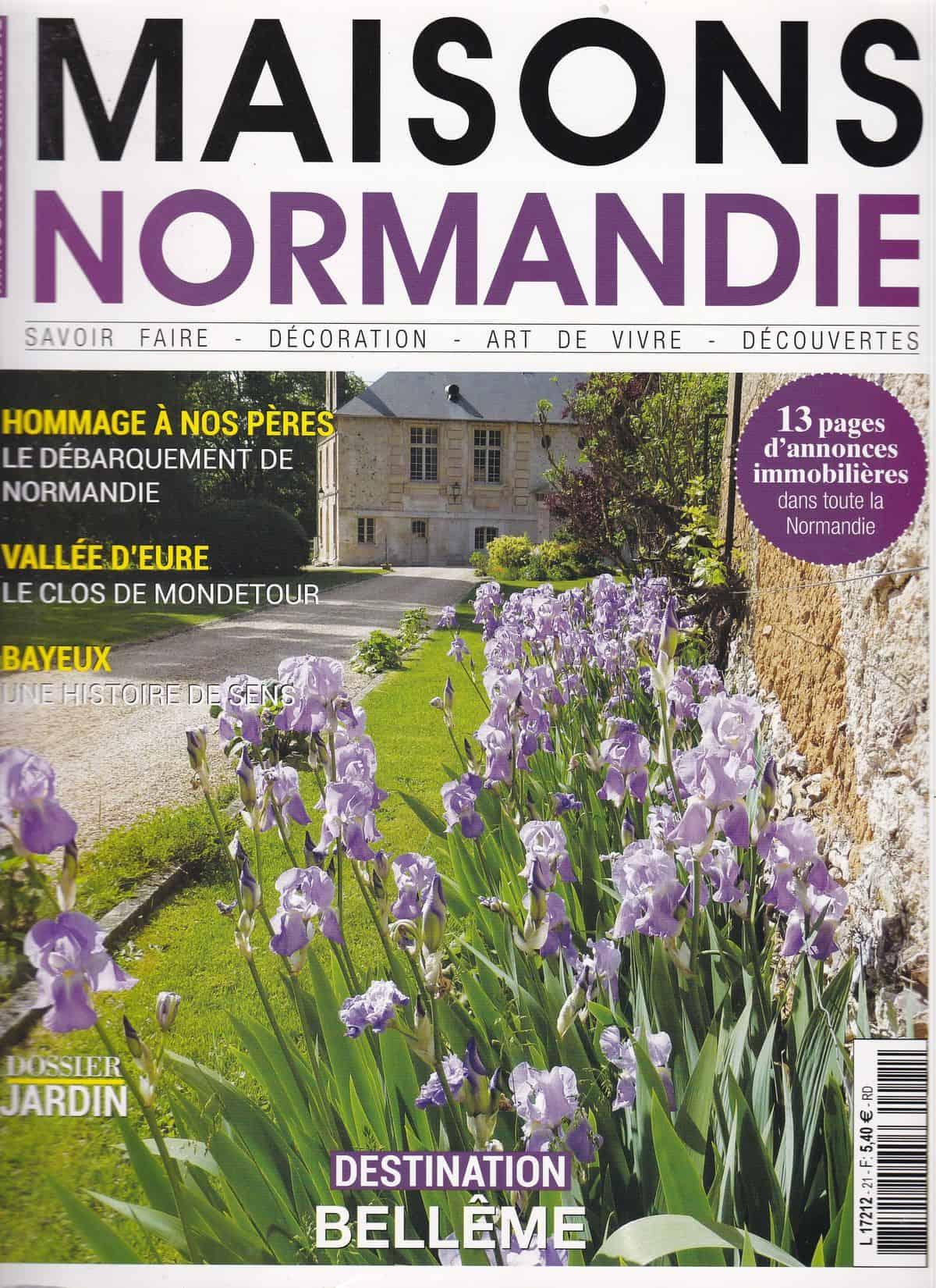 Couverture « Maisons Normandie » – Avril/Mai 2019