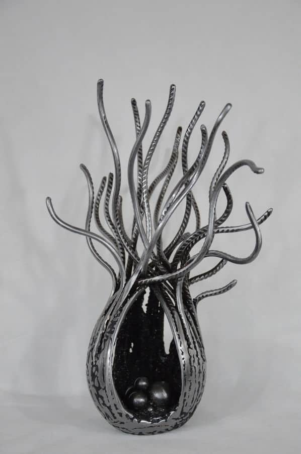 Actinie 8 Serge Guarnieri Sculpture Métal Fusionné