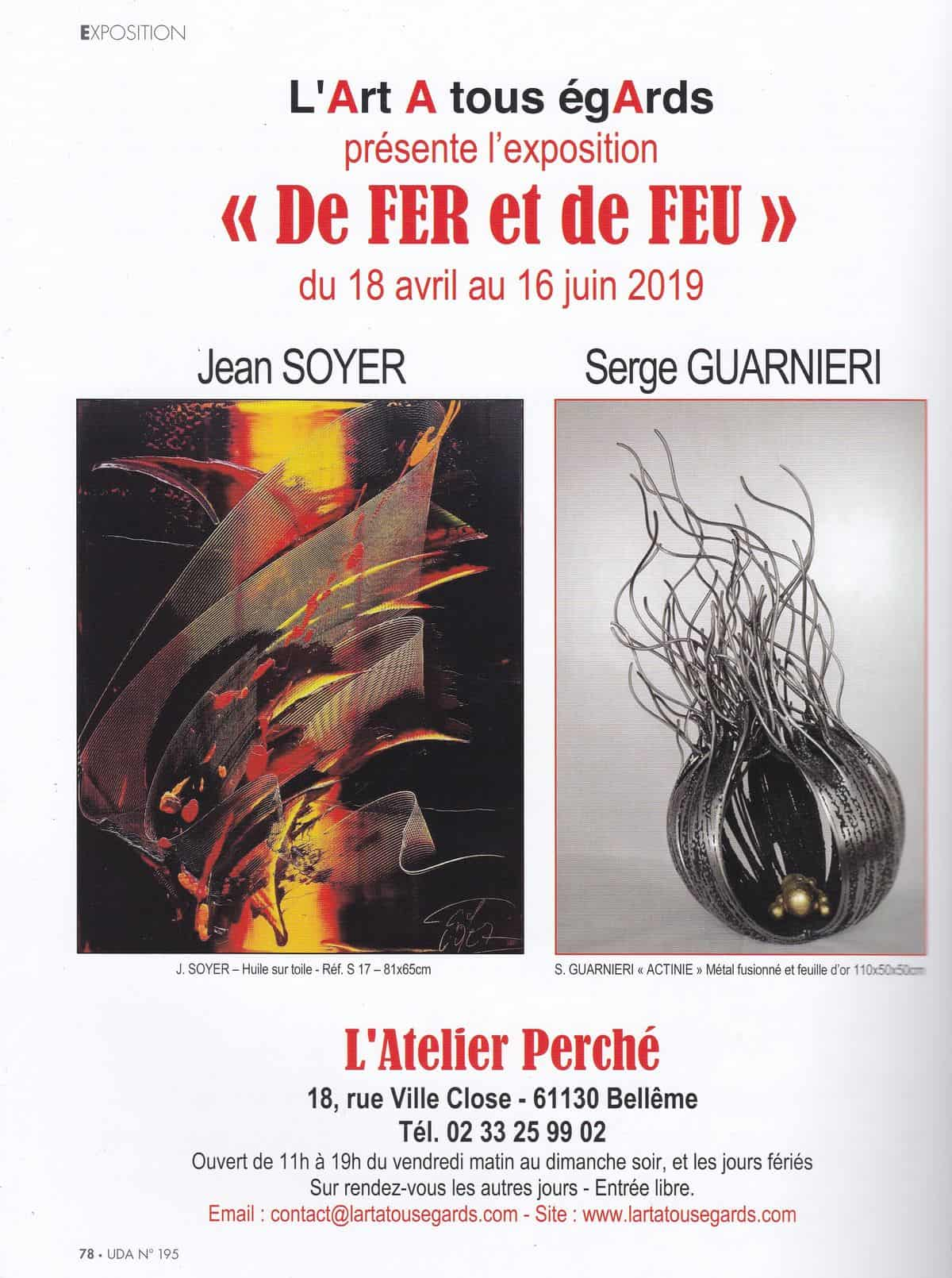 "Article ""universdesarts"" - Printemps 2019 - Page 1"