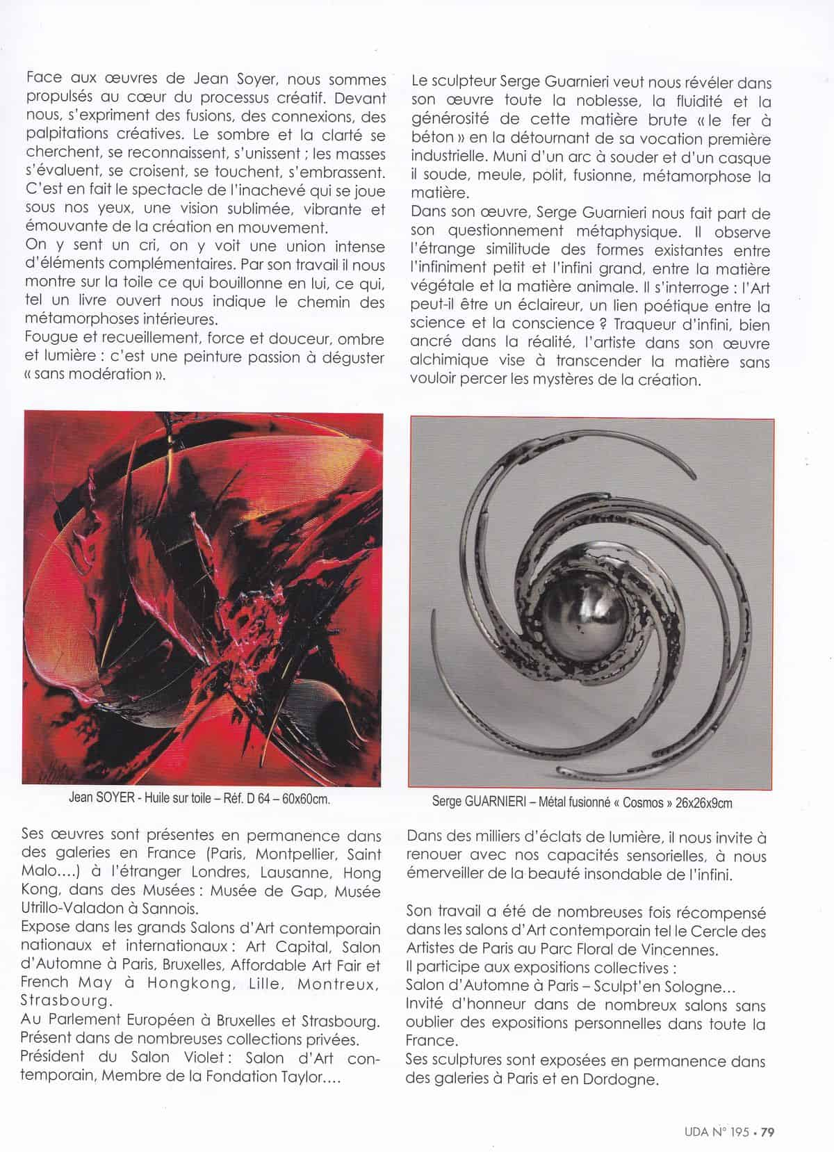 "Article ""universdesarts"" - Printemps 2019 - Page 2"