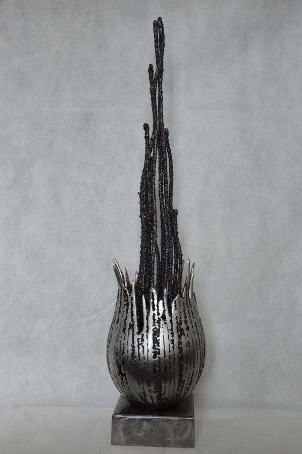 Corolle par Serge Guarnieri - Sculpture Métal Fusionné