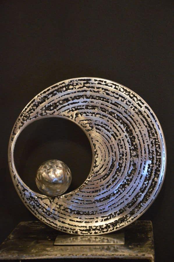 Equilibre 3 par Serge Guarnieri - Sculpture Métal Fusionné