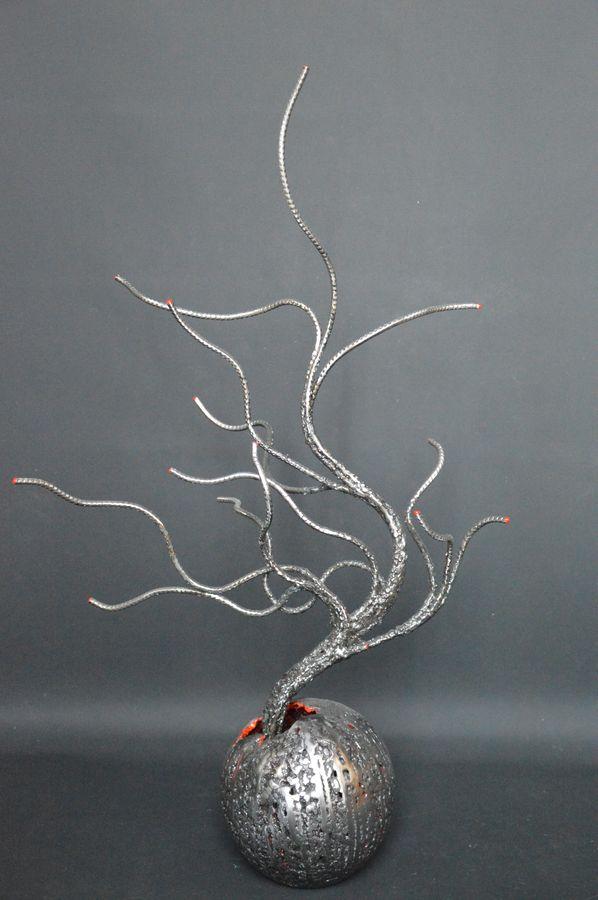 Kokedama par Serge Guarnieri - Sculpture Arbres-Bonsaïs