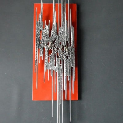 Red Steel Bark 5 par Serge Guarnieri - Sculpture Murales