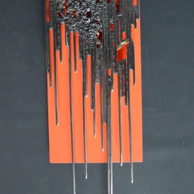 Red Steel Bark 6 par Serge Guarnieri - Sculpture Murales