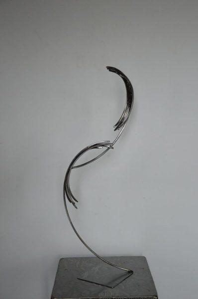 Feather 7 par Serge Guarnieri - Sculpture Métal Fusionné